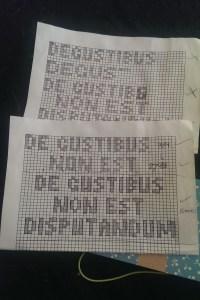 De Gustibus Pattern